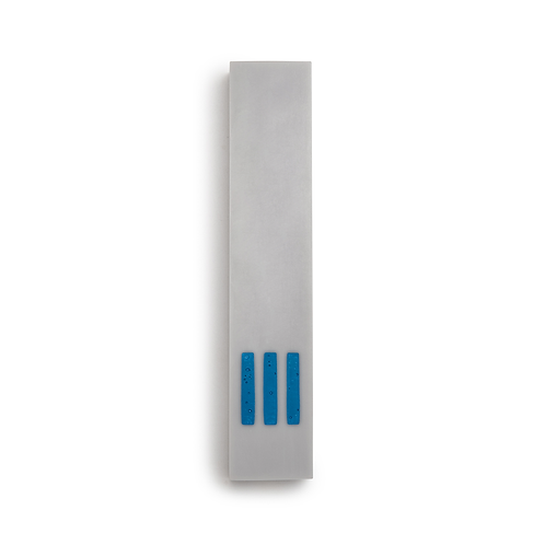 MEZUZAH | Gray Narrow | (ש) Middle - Blue