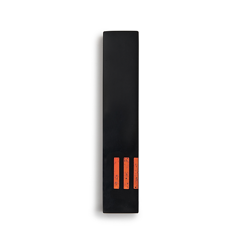 MEZUZAH | Black Narrow | (ש) Side - Orange