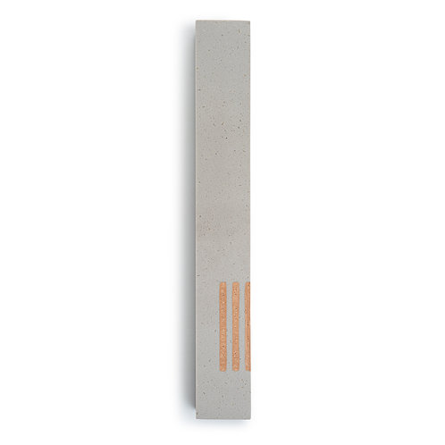 MEZUZAH | Large | Urban Gray | (ש) Side -Champagne