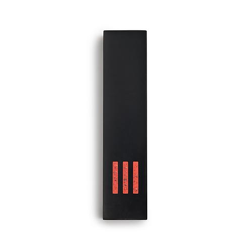 MEZUZAH | Black Wide | (ש) Middle - Orange