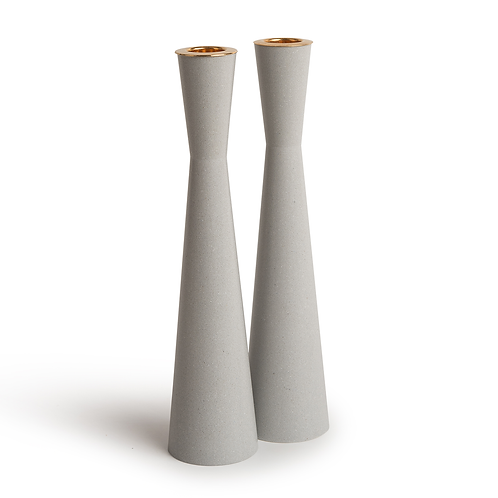 PAMOT - Warm Gray - Corian Candle Holders