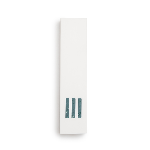MEZUZAH | White Wide | (ש) Middle- turquoise