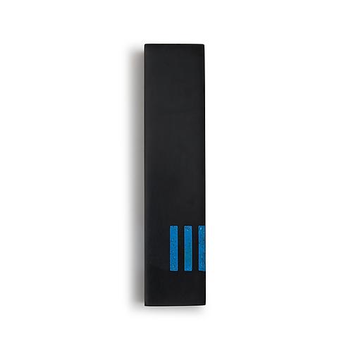 MEZUZAH | Black Wide | (ש) Side - Blue