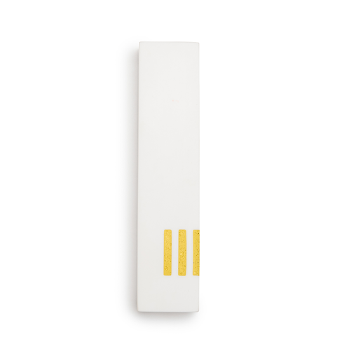 MEZUZAH | White Wide | (ש) Side - Yellow