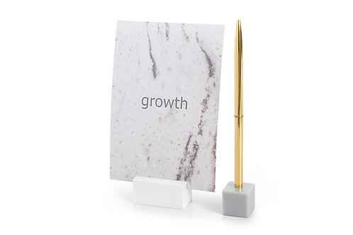 DUIPhoto and Pen Holder - Gray and White