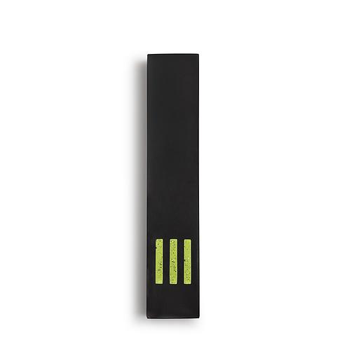 MEZUZAH | Black Narrow | (ש) Middle - Green