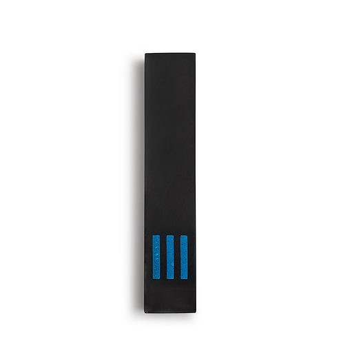 MEZUZAH | Black Narrow | (ש) Middle - Blue