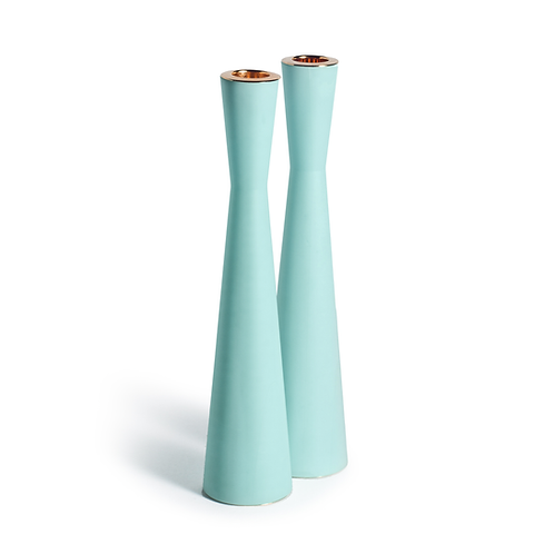 PAMOT - Light Blue - Corian Candle Holders