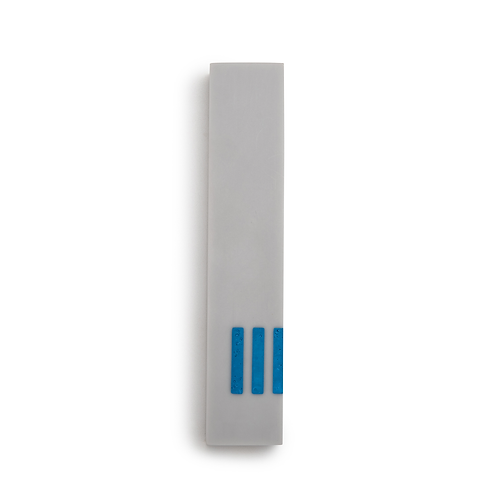 MEZUZAH | Gray Narrow | (ש) Side - Blue
