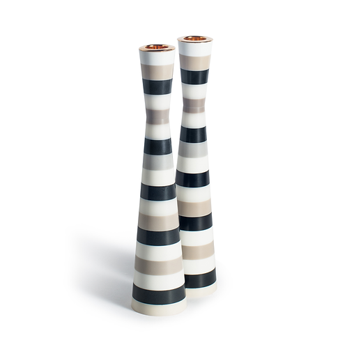 PAMOT - Zebra - Corian Candle Holders