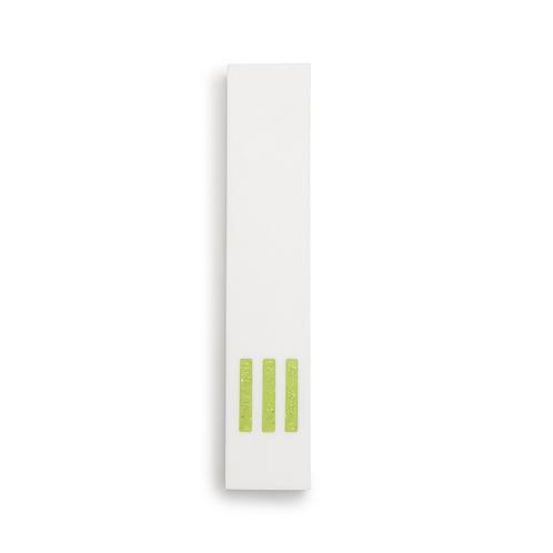 MEZUZAH | White Narrow | (ש) Middle - Green