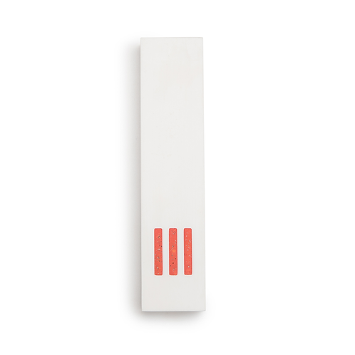 MEZUZAH | White Wide | (ש) Middle- Orange