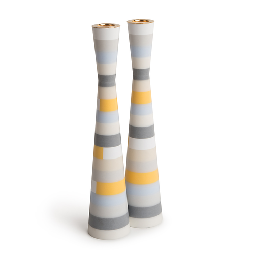 PAMOT - Pastel Mosaic - Corian Candle Holders