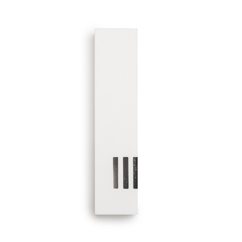 MEZUZAH | White Wide | (ש) Side- Black