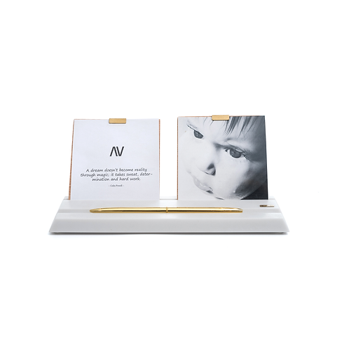 MAAMAD – Vanille - Porte-photos et stylos