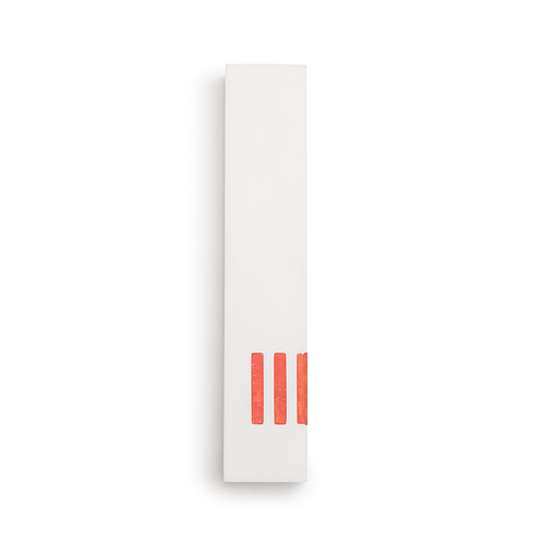 MEZUZAH | White Wide | (ש) Side- Orange