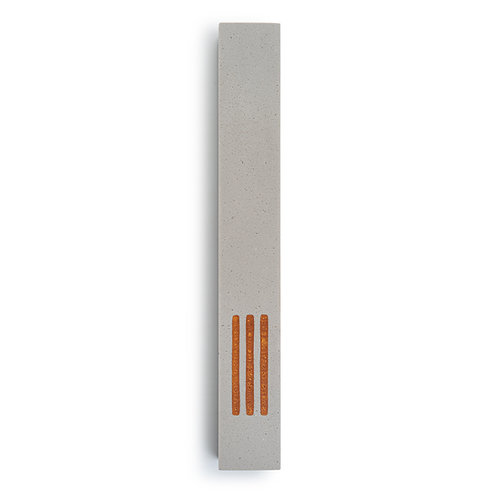 MEZUZAH | Large | Urban Gray | (ש) Middle -Gold