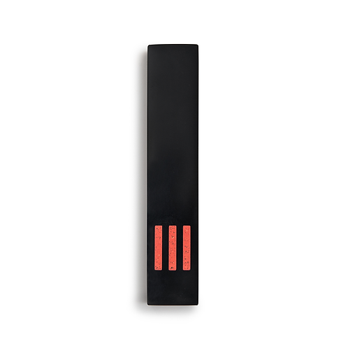 MEZUZAH | Black Narrow | (ש) Middle - Orange