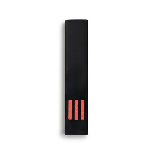 MEZUZAH | noir - fin | (ש) centre - orange