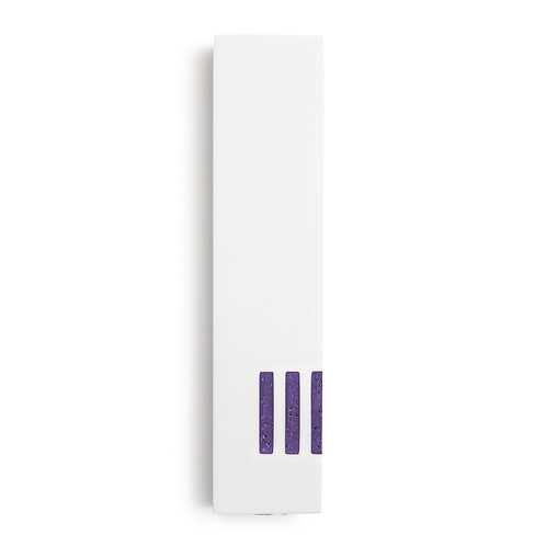 MEZUZAH | White Wide | (ש) Side - Purple
