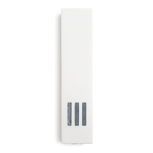 MEZUZAH | White Wide | (ש) Middle - Gray