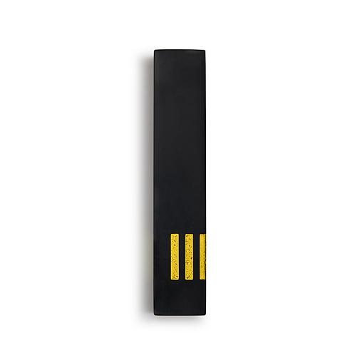 MEZUZAH | noir - fin | (ש) côté - jaune