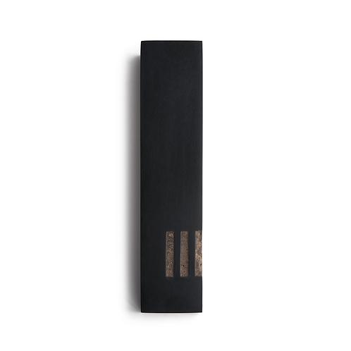 MEZUZAH | noir - large | (ש) côté -cuivre