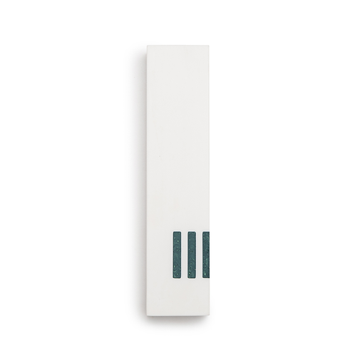 MEZUZAH | White Wide | (ש) Side- turquoise