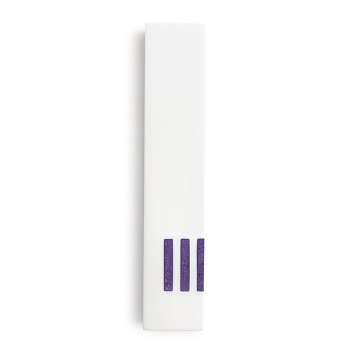 MEZUZAH | White Narrow | (ש) Side - Purple