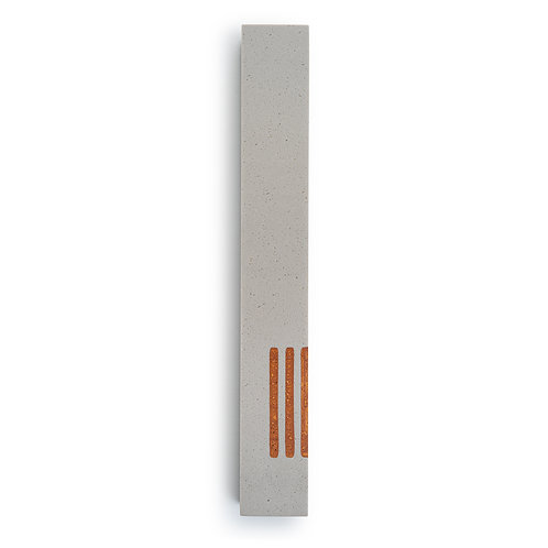 MEZUZAH | Large | Urban Gray | (ש) Side -Gold
