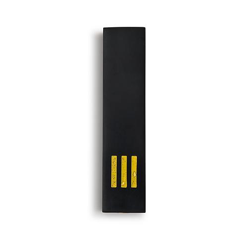 MEZUZAH | Black Wide | (ש) Middle - Yellow