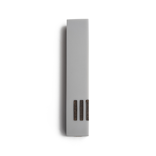 MEZUZAH | Gray Narrow | (ש) Side - Bronze
