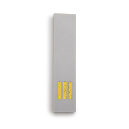 MEZUZAH | Gray Wide | (ש) Middle- Yellow
