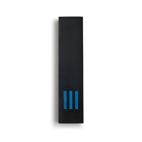 MEZUZAH | Black Wide | (ש) Middle - Blue