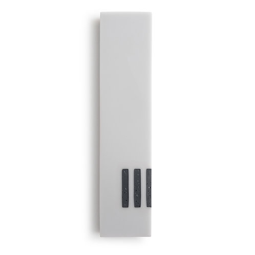 MEZUZAH | Gray Wide | (ש) Side - Black