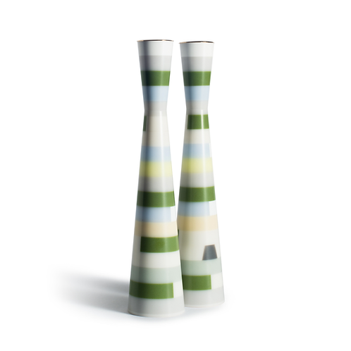 PAMOT - Green Cubism - Corian Candle Holders