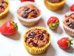 strawberry protein muffin
