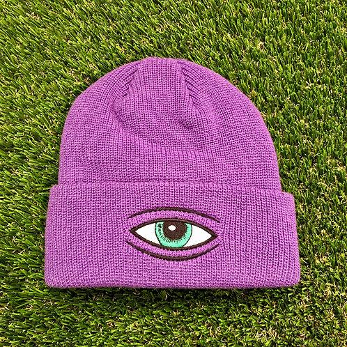 Toy Machine Sect Eye Beanie - Purple