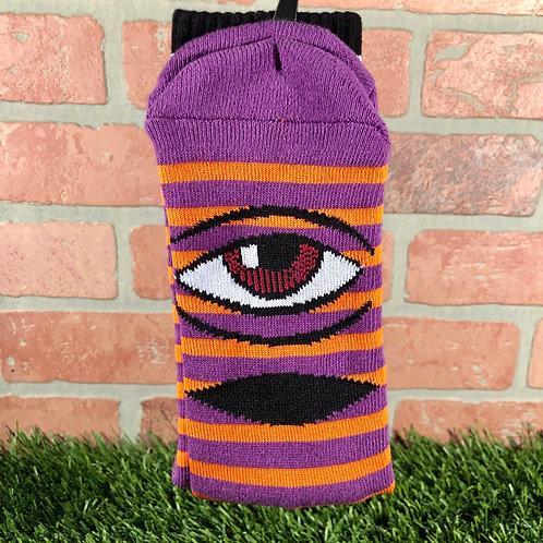 Toy Machine - Sect Eye Stripe - Purple/Orange
