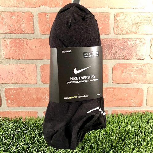 Nike - Everyday No Show/3 Pack - Black