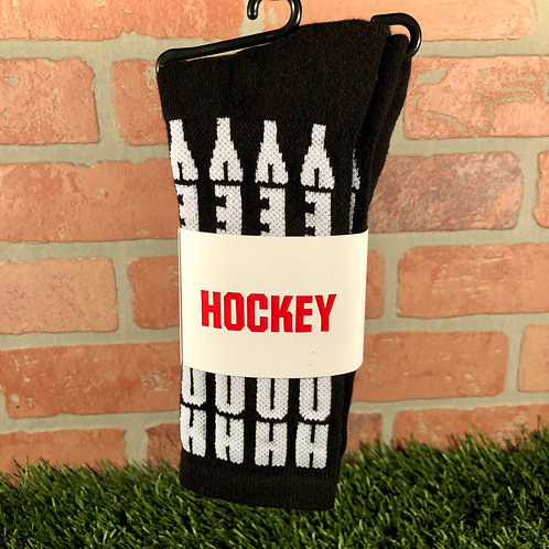 Hockey - Vertical - Black