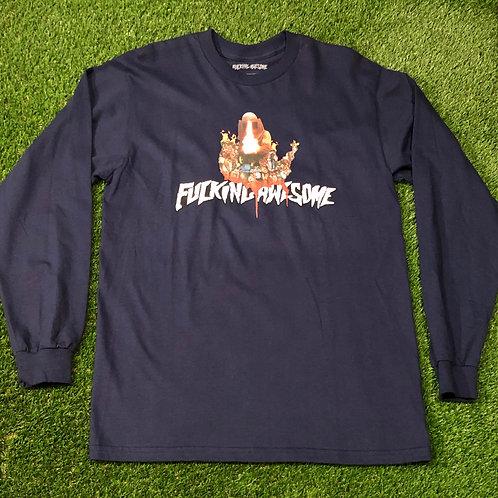 FA - Flame Logo L/S Navy