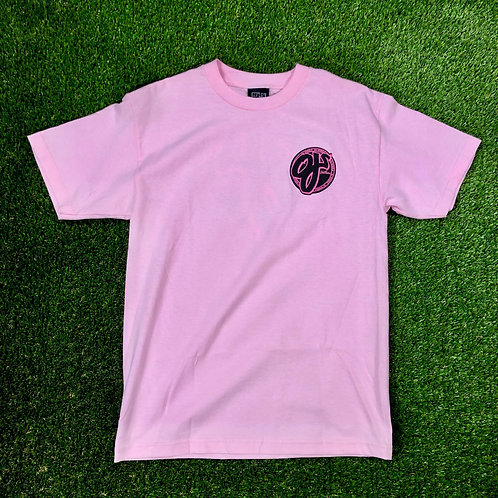 OJ Pink Logo T