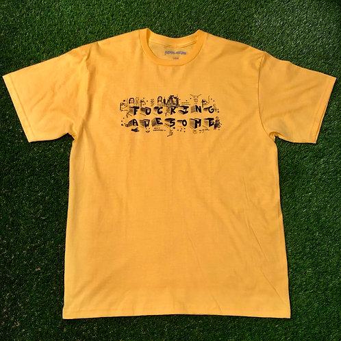 FA - Block Letters T Yellow - XL