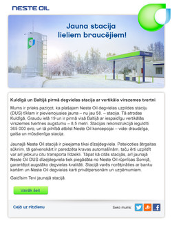NesteOil Direct mail