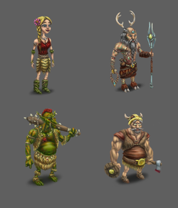Characters for game