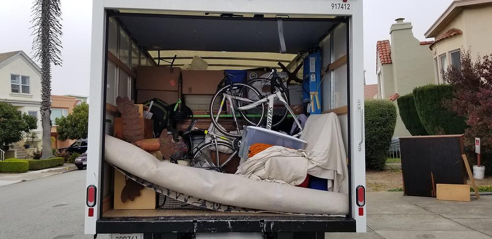 Moving truck full of crap