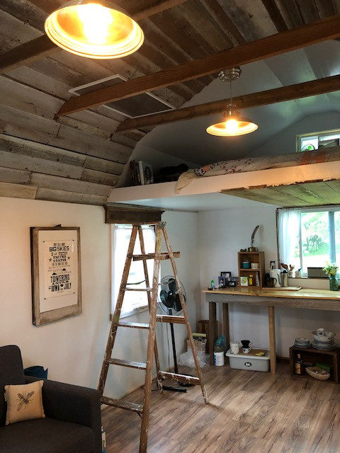 The interior of the tiny house.