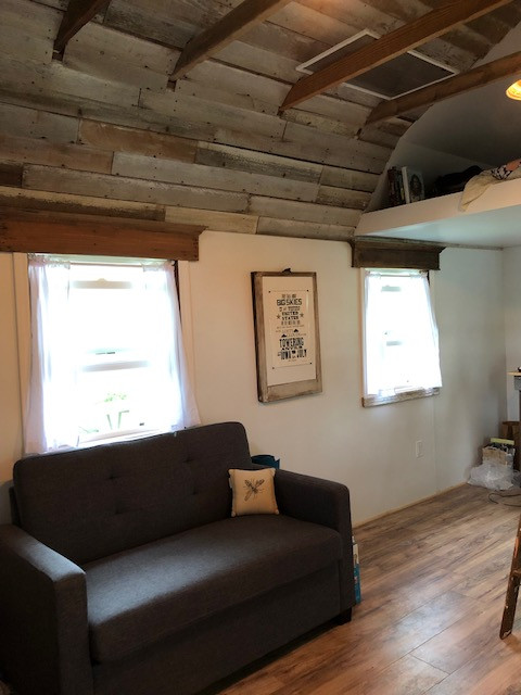 Couch in tiny house