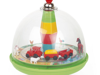 Janod Musical Spinning Top - Farm